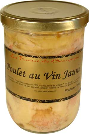 vente poulet au vin jaune 750 g epicerie du terroir vente panier gourmand et garni produit. Black Bedroom Furniture Sets. Home Design Ideas